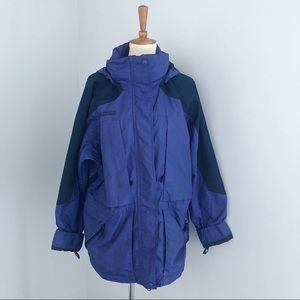 Vintage Columbia Hooded Purple Jacket Size Large